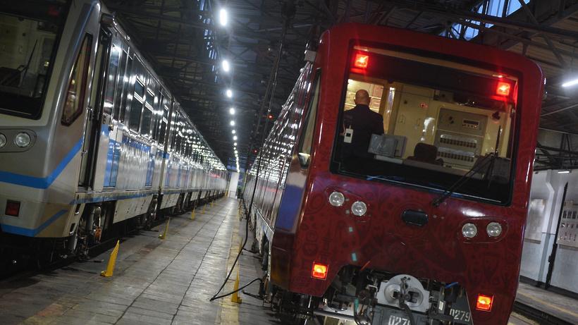 ВМосковском метро запустили поезд кЧемпионату мира
