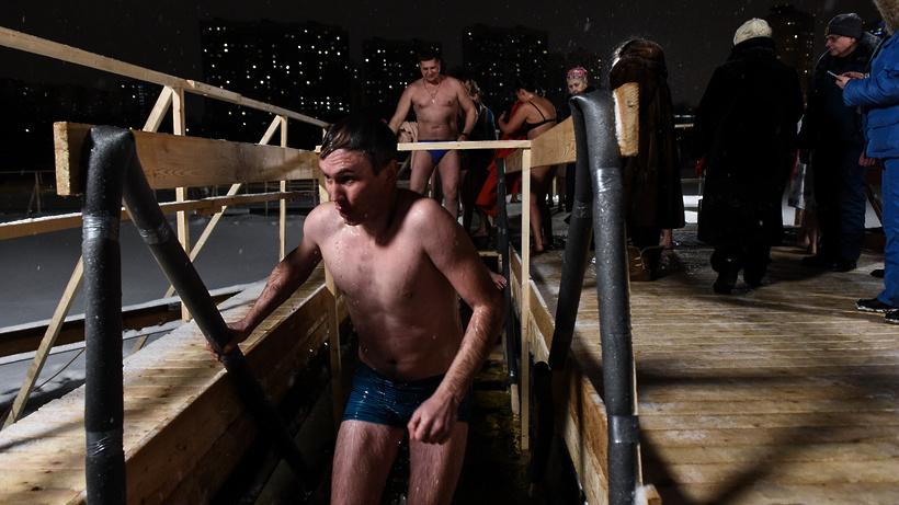 Более 1 тыс участников крещенских купаний ожидают в селе Троицкое Мытищ