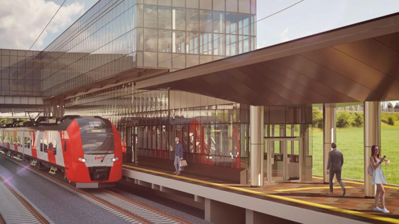 Железнодорожные станции «Новохохловская» и«Остафьево» будут напоминать стеклянные кубы