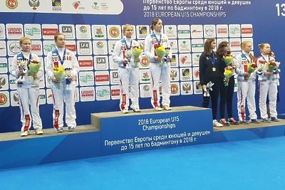 Подмосковные спортсменки стали чемпионками Европы в парном разряде по бадминтону