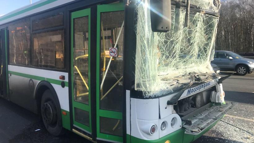 Встолкновении грузового автомобиля савтобусом наКиевском шоссе пострадали 8 человек