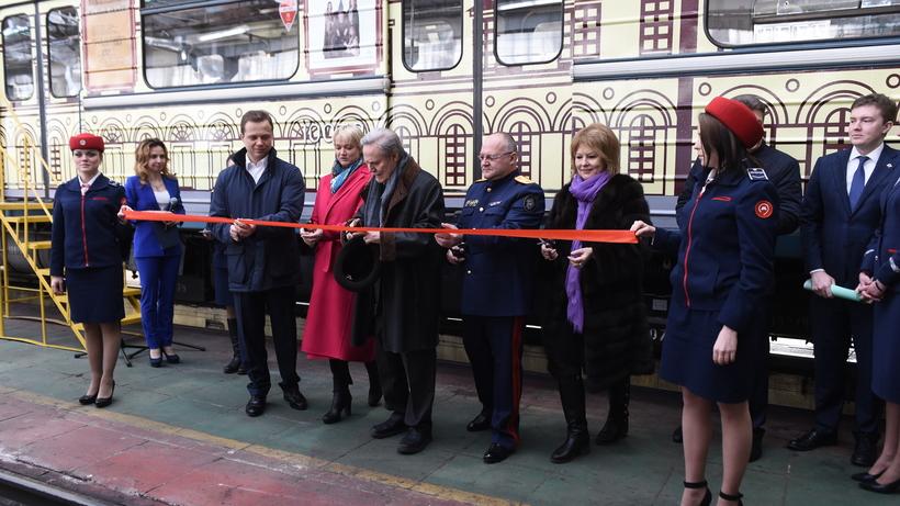 «Погружение висторию». Вмосковском метро запустили «театральный» поезд