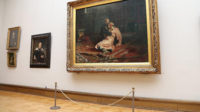 ВТретьяковке гость сломал картину «Иван Грозный убивает своего сына»
