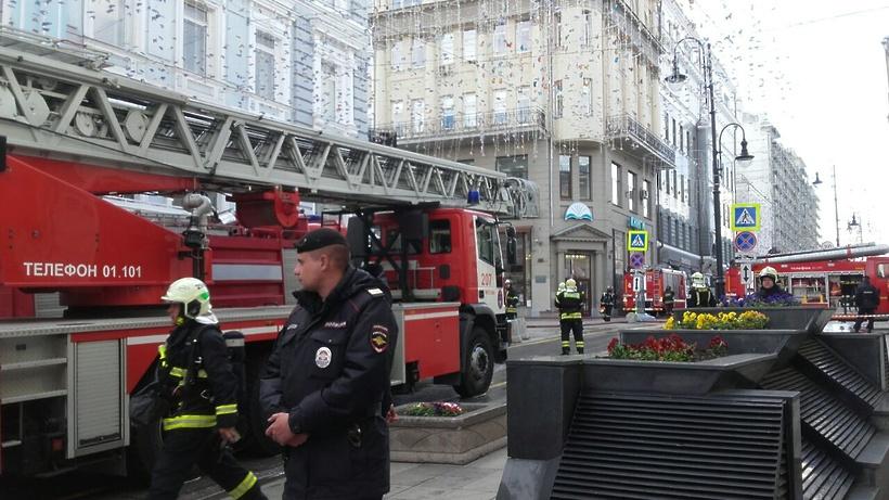 Вцентре российской столице полыхает книжный магазин