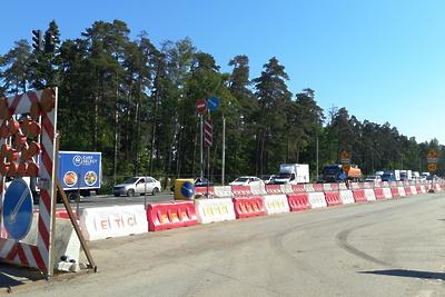 Строительство опор для 3 развязок на Горьковском шоссе в Балашихе выполнили на 20%