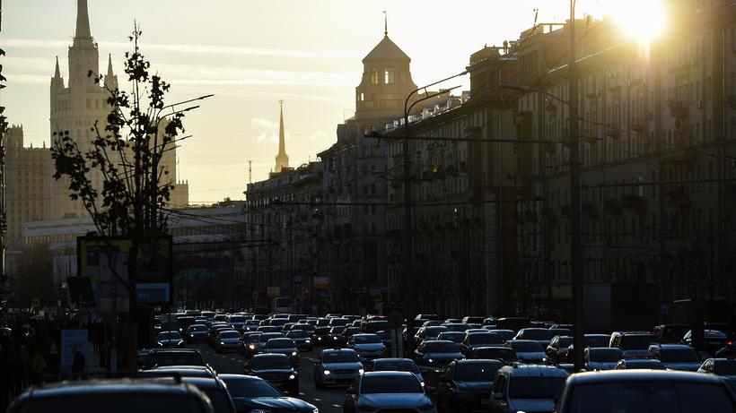 Семибалльные пробки образовались на дорогах Москвы вечером в пятницу