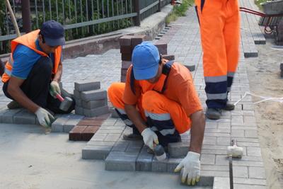 Тротуары отремонтировали на нескольких улицах в Звенигороде