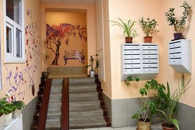 Подъезд многоэтажки в Балашихе оформили художественной росписью