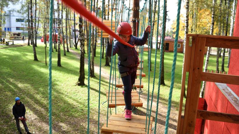 Веревочный парк появился в детсаду Котельников