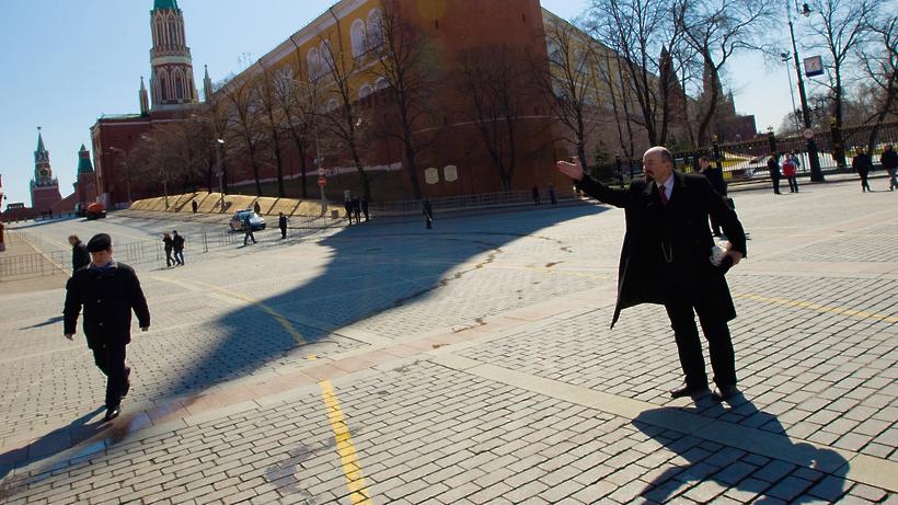 Двойник Ленина на Красной площади