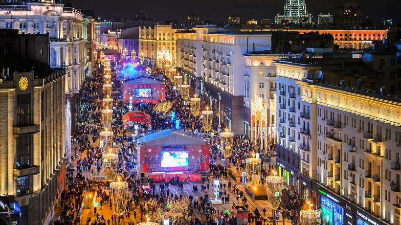 Жители Московского региона встретили Новый год при комфортной погоде