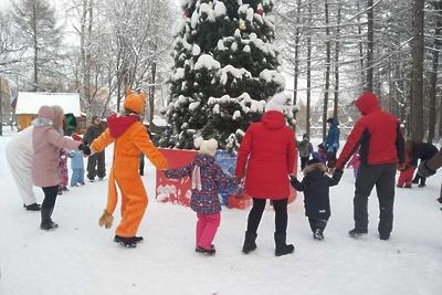 Более 100 тыс человек посетили новогодние площадки в Подольске за неделю