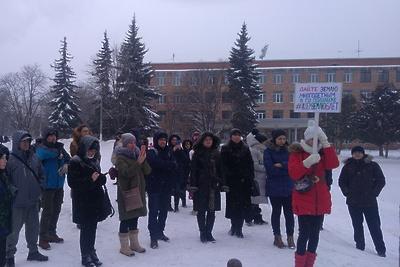 Митинг за выделение земли многодетным семьям прошел в Подольске