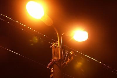 Уличное освещение восстановили в деревне Балашихи после жалобы жительницы