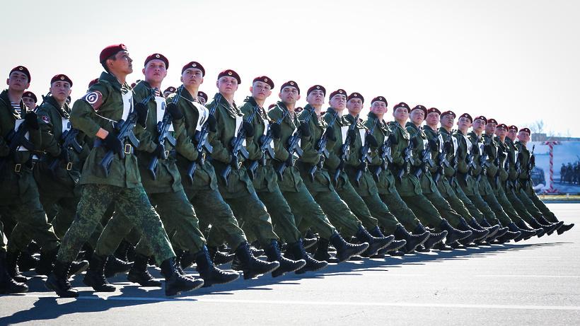 Военнослужащие дивизии имени Дзержинского в Балашихе подготовились к параду Победы