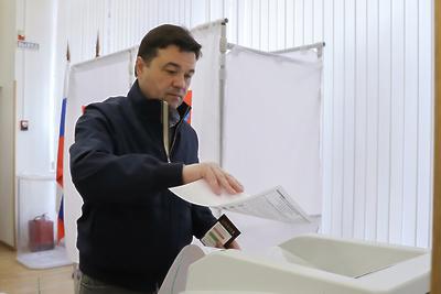Воробьев проголосовал на выборах в совет депутатов в Одинцовском округе