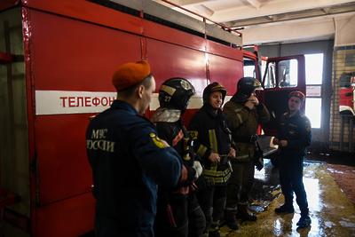 Пожар потушили на складе в поселке Красногорска