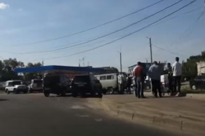 Видео с места взрыва на АЗС в Серпухове