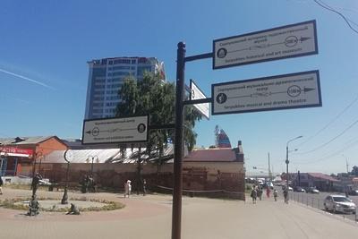 Информационные пилоны и флагштоки для туристов установили в Серпухове