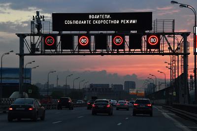 Зимний скоростной режим начал действовать на трассе М‑1 «Беларусь» в Подмосковье со среды