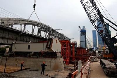 Новый железнодорожный мост для МЦД‑1 достоят в районе «Москва‑Сити» до конца 2019 года