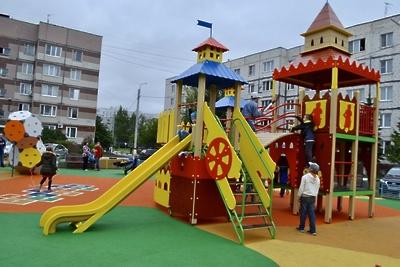 Новую детскую площадку открыли в Электрогорске