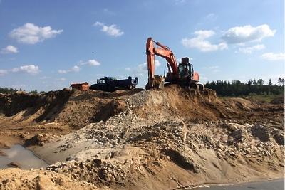 Сотрудники Минэкологии и полиция пресекли незаконную добычу песка в Павловском Посаде