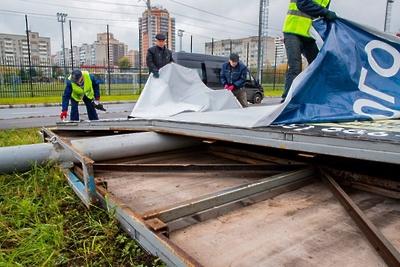 Более 30 рекламных щитов демонтируют в Домодедове до конца года