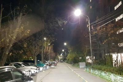 Уличные фонари отремонтировали в одном из дворов Подольска