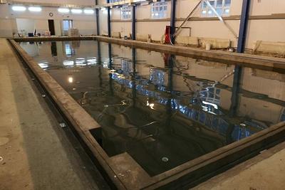 Испытания чаши нового бассейна проводят в оздоровительном центре «Родина» в Подольске