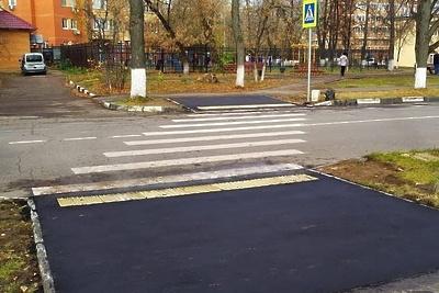 В Люберцах отремонтировали тротуары площадью 175 кв м за неделю