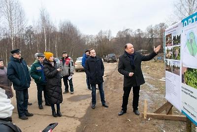 Благоустройство территории у святого источника в деревне Подольска завершат весной 2020 г