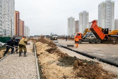 Выезд с нового участка улицы 43‑й Армии на перекресток начали оборудовать в Подольске