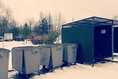 Завалы образовались на 5 площадках сбора мусора в микрорайоне Львовский Подольска