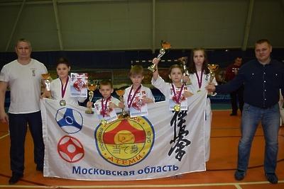 Подольские спортсмены завоевали 6 медалей на первенстве ЦФО по киокусинкай каратэ