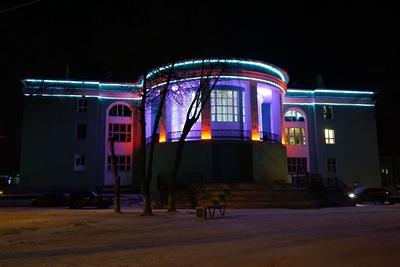 Подсветку зажгли на здании ДК «Машиностроитель» Подольска после завершения ремонта кровли