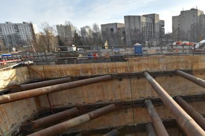 На будущей станции «Университет дружбы народов» завершается выемка грунта из котлована