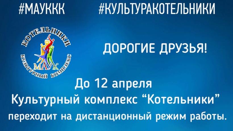 Культурные мероприятия в Котельниках будут проходить в режиме онлайн до 12 апреля