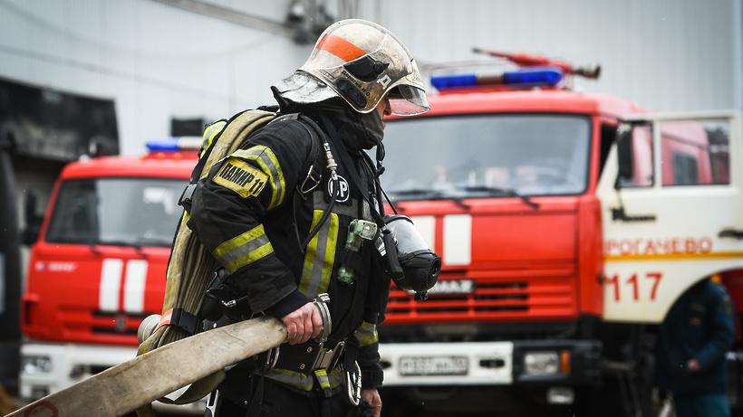 Пожар в автобусе на трассе в Домодедове локализовали