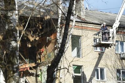 Видео с места взрыва газа в жилом доме в Орехово‑Зуеве