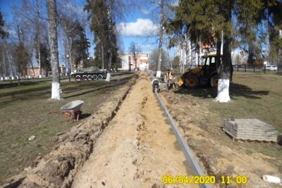 Территорию парка Победы начали благоустраивать в поселке Кузнечики Подольска