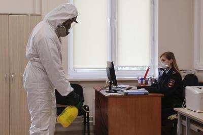 В Домодедове продезинфицировали помещения управления МВД