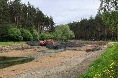 В парке на территории Домодедова приведут в порядок пруд