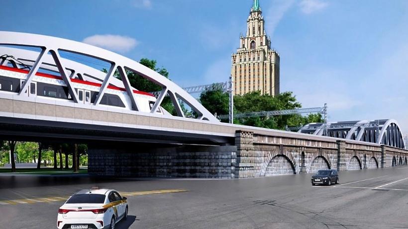 Первую арку установили на Каланчевском путепроводе Московской железной дороги