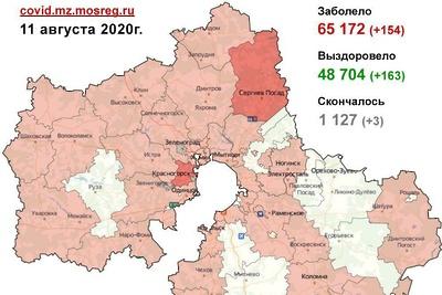 В 22 округах Подмосковья за сутки не выявили новых случаев Covid‑19