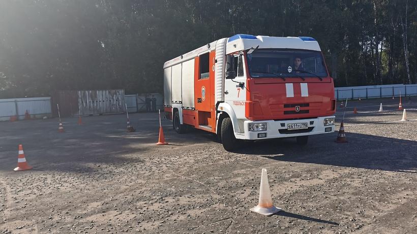 В Подольске определили лучшего водителя среди пожарных