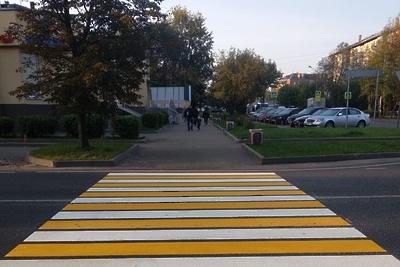 Пешеходный переход начали обустраивать в микрорайоне Климовск Подольска