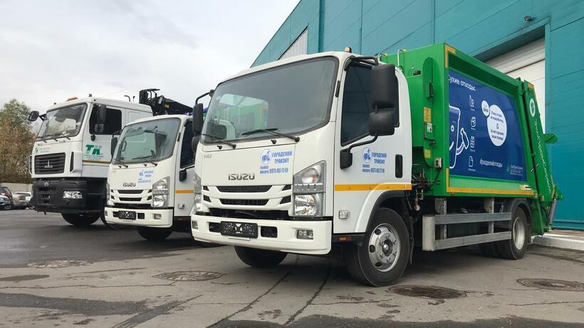 5 новых мусоровозов появилось в автопарке оператора по обращению с ТКО в Подмосковье