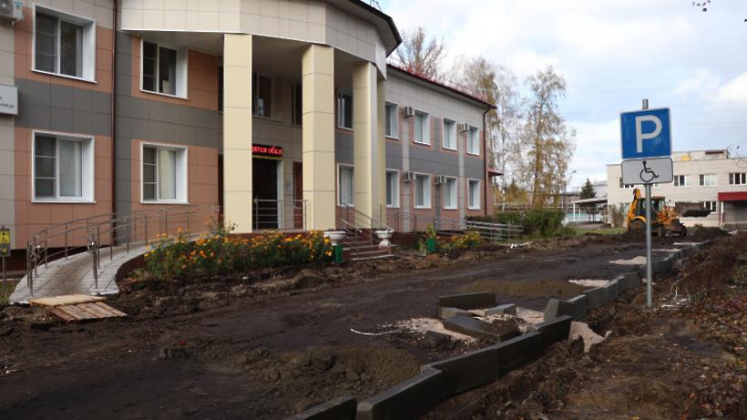 Территорию больницы в Электрогорске благоустроят до конца года