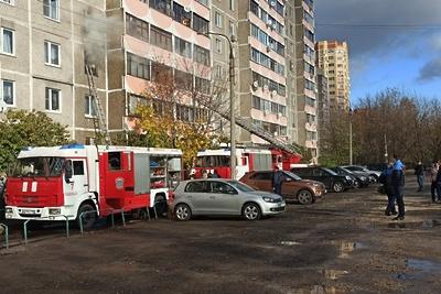 Девочку спасли при пожаре в Подольске